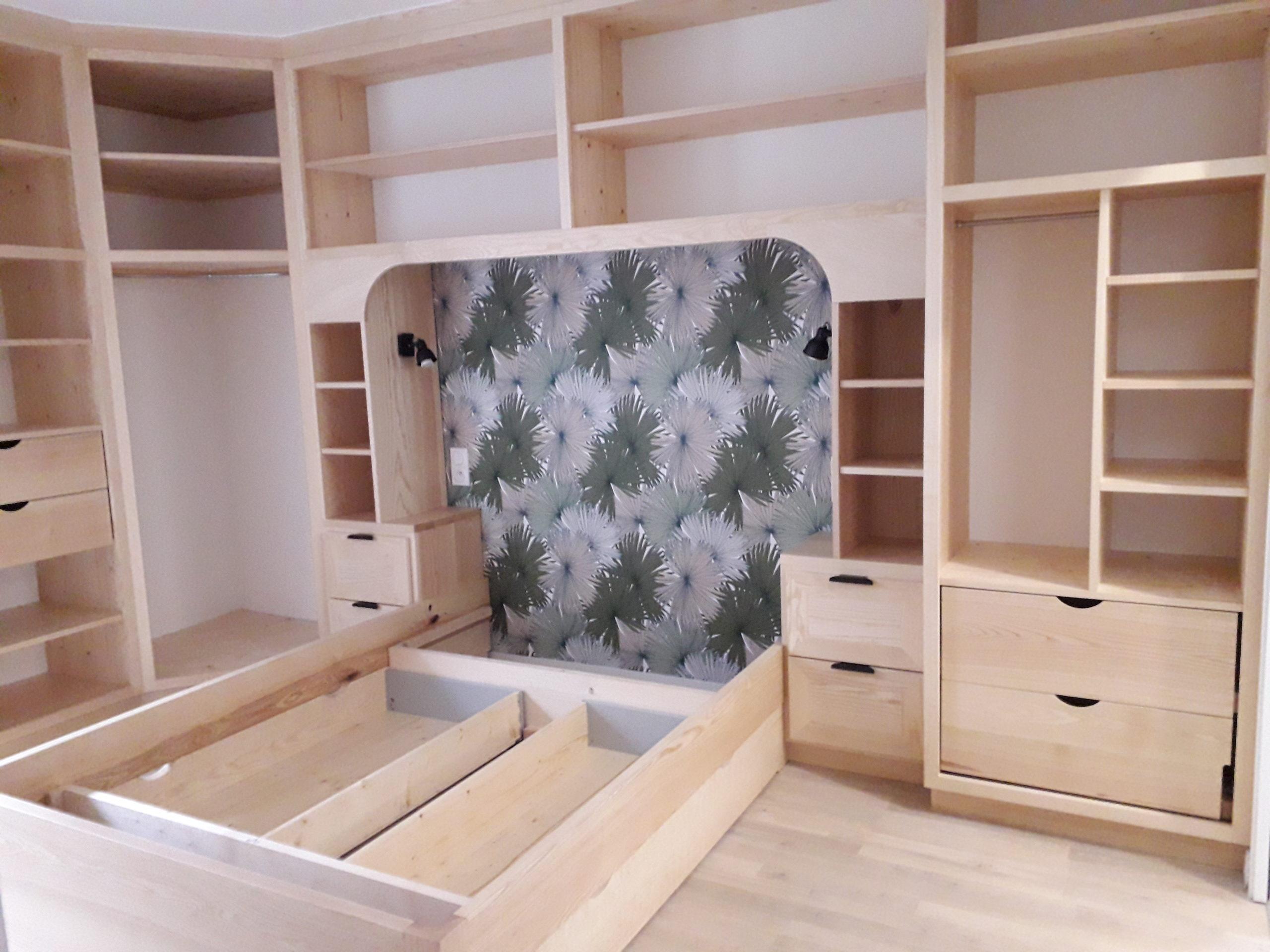 fabrication d'un ensemble de meubles par Moreau Jeandin