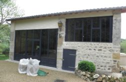 ENSEMBLE EN ALUMINIUM LAQUE GRIS ANTHRACITE