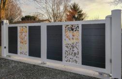 Portail MANDINGA 255-decor FUTURISTE-bicolore